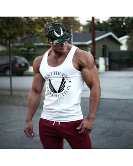 Men Bodybuilding Tank Tops Gyms Muscle Y BACK Racer